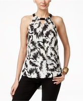 Alfani Petite Embellished Surplice Halter Top, Only at Macy's