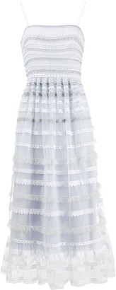 Temperley London Promise striped-lace dress