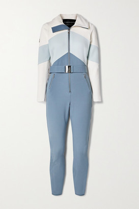 Cordova Alta Belted Color-block Ski Suit - Blue