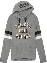 PINK Purdue University Crossover Pullover Hoodie