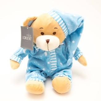 Lorient Home Stuffed Animal and Fleece Throw Blanket Gift Set - Blue