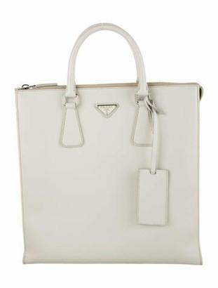 Prada Saffiano Lux Shopper silver