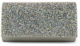 Jessica McClintock Chloe Crushed Glitter Flap Convertible Clutch