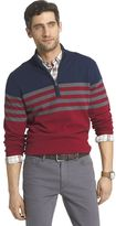 Izod Men's Classic-Fit 12gg Striped Quarter-Zip Pullover Sweater