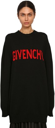 Givenchy Intarsia Logo Cotton Knit Sweater