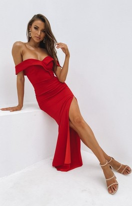 The Edit Lizzy Formal Dress Red