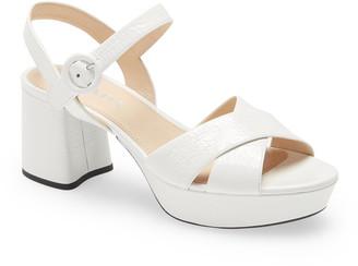 Prada Block Heel Sandal