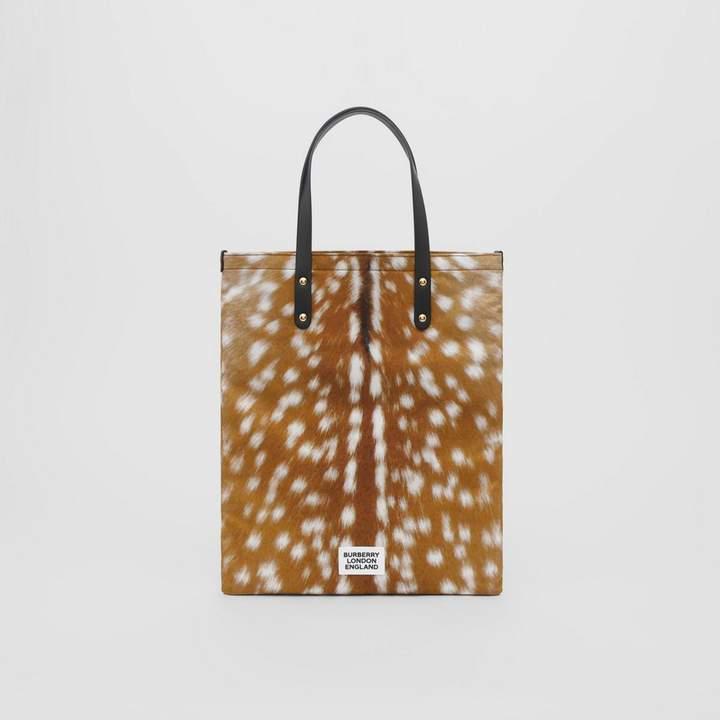 d7cbb6eb7d1 Deer Print Nylon Tote Bag