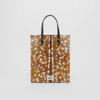 Burberry Deer Print Nylon Tote Bag