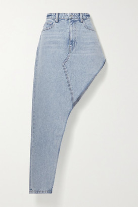 Alexander Wang Asymmetric Denim Skirt - Light denim
