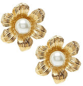 Dillard's Flower Pearl Clip-On Earrings