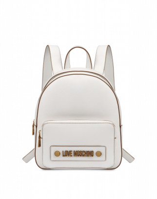 Love Moschino Backpack With Logo Woman White Size U It - (one Size Us)