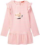 Funkyberry Ruffle Detail Stripe Dress (Toddler, Little Girls, & Big Girls)