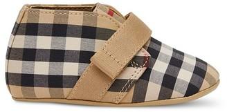 BURBERRY KIDS Vintage Check-print crib shoes