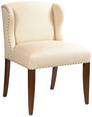 French Heritage St. Croix Nail-Trim Desk Chair - Ivory