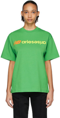 Aries Green New Balance Edition Logo T-Shirt