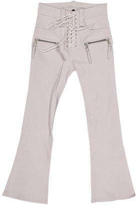 Unravel Project Purple Leather Trousers