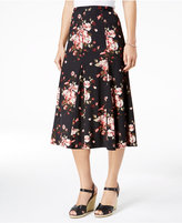 NY Collection Petite Floral-Print A-Line Skirt