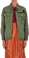 Marc Jacobs Women's Embellished Cotton Military Jacket-GREEN