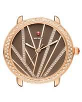Michele 16mm Serein Mid City Lights Diamond Rose Gold Watch Head, Diamond Dial