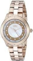 Invicta Women's 21406 Wildflower Analog Display Japanese Quartz Rose Gold Watch