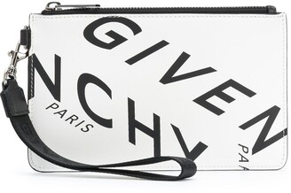 Givenchy Refracted logo print clutch