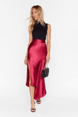 Nasty Gal Womens Studio Sleek for You Bias Cut Midi Skirt - black - 6