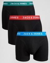 Jack and Jones Trunks 3 Pack Contrast Waistband