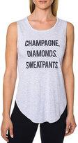 Betsey Johnson Champagne Diamonds Sweatpants Tank