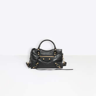 "Balenciaga Cross body lambskin bag, mini version of the iconic bag the ""City"""