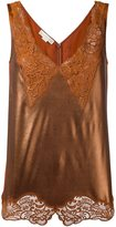 Stella McCartney 'Anastasia' v-neck lace camisole - women - Silk/Cotton/Acetate/Aluminium - 40