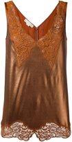 Stella McCartney 'Anastasia' v-neck lace camisole - women - Silk/Cotton/Acetate/Aluminium - 40