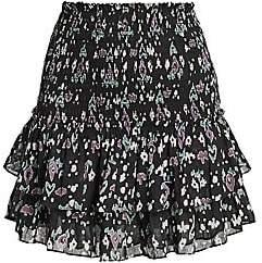 Etoile Isabel Marant Women's Frinley Printed Smocked Skirt
