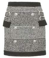 Balmain Wool and cotton-blend miniskirt