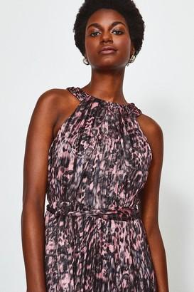 Karen Millen High Neck Printed Midi Dress