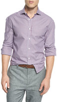 Brunello Cucinelli Basic-Fit Check Sport Shirt, Red