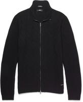 HUGO BOSS Naik Slim-Fit Virgin Wool, Silk and Cashmere-Blend Zip-Up Sweater