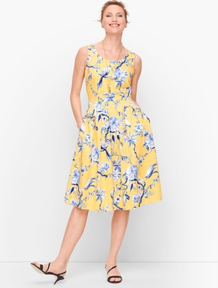 Talbots Toile Fit & Flare Dress