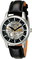 Stuhrling Original Women's 576.11151 Vogue Audrey Stella Automatic Skeleton Swarovski Crystal Dial Watch