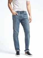 Banana Republic Straight Rapid Movement Light Wash Jean