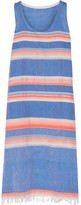 Lemlem Elsi Striped Cotton-blend Gauze Dress - Azure