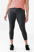 Classic Women's Plus Size Active Control Crop Leggings-Iron Heather