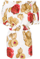 Dolce & Gabbana rose biscuit print playsuit