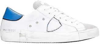 Philippe Model Prsx L Sneakers In White Suede And Leather