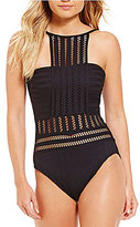 Kenneth Cole New York Tough Luxe High Neck One-Piece