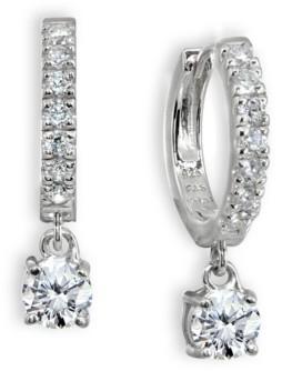Giani Bernini Cubic Zirconia Dangle Drop Huggie Hoop Earring in Sterling Silver