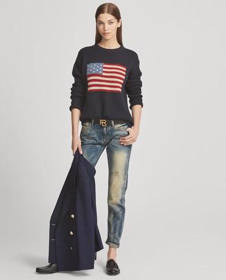 Ralph Lauren Flag Cashmere Crewneck Sweater