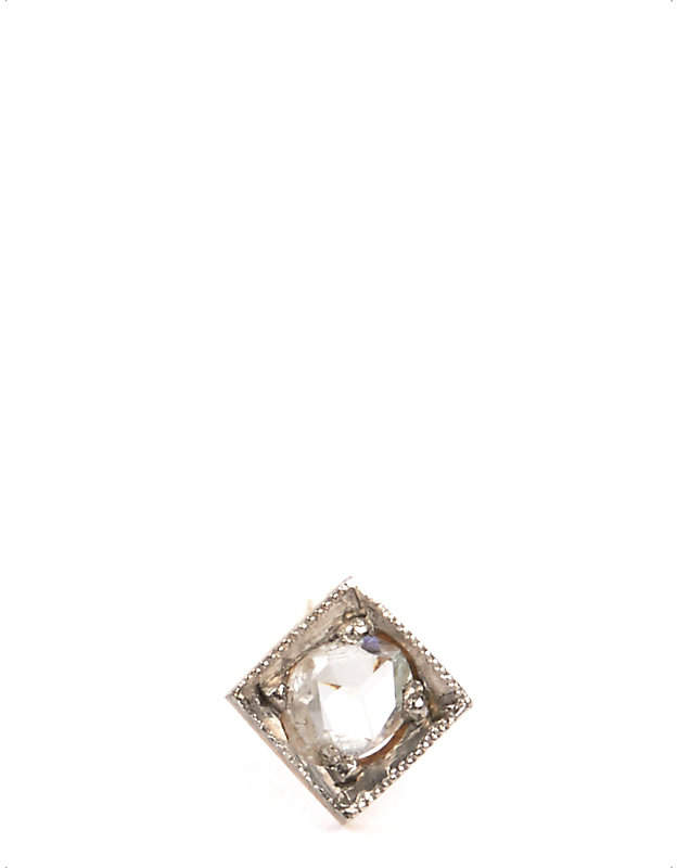 Annina Vogel 9 carat gold and diamond solitaire earring