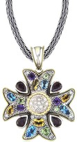 Effy Jewelry Effy 925 Cross Pendant with Sapphires, 5.50 TCW