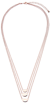 John Lewis Three Layered Chain Necklace, Rose Gold